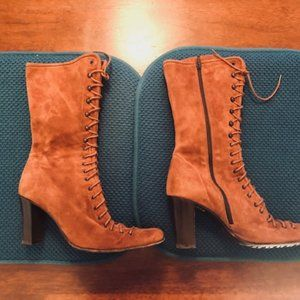 VTG KENNETH COLE SUEDE BOOT, XLENT COND. 38 1/2